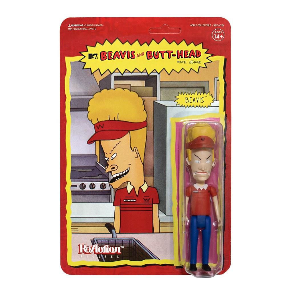 嘿嘿嘿... 呵呵呵... Super7 ReAction Figure 系列《癟四與大頭蛋》Beavis and Butt-Head 多款 5 吋吊卡玩具發表!