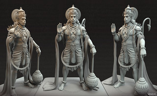 3d Model Design Anjaneya Hanuman