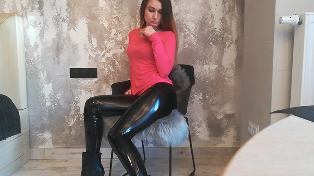 Latex and boots (4)