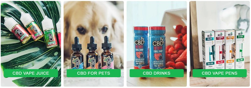 different cbd products