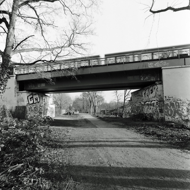 S-Bahn Berlin Brücke S2 Mariendorf Lankwitz 15.2.2020