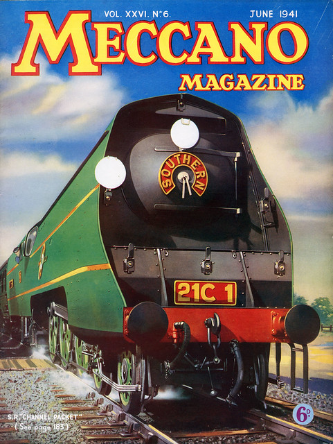 Meccano Magazine June 1941. Souther Region Merchant Navy Class Pacific locomotive