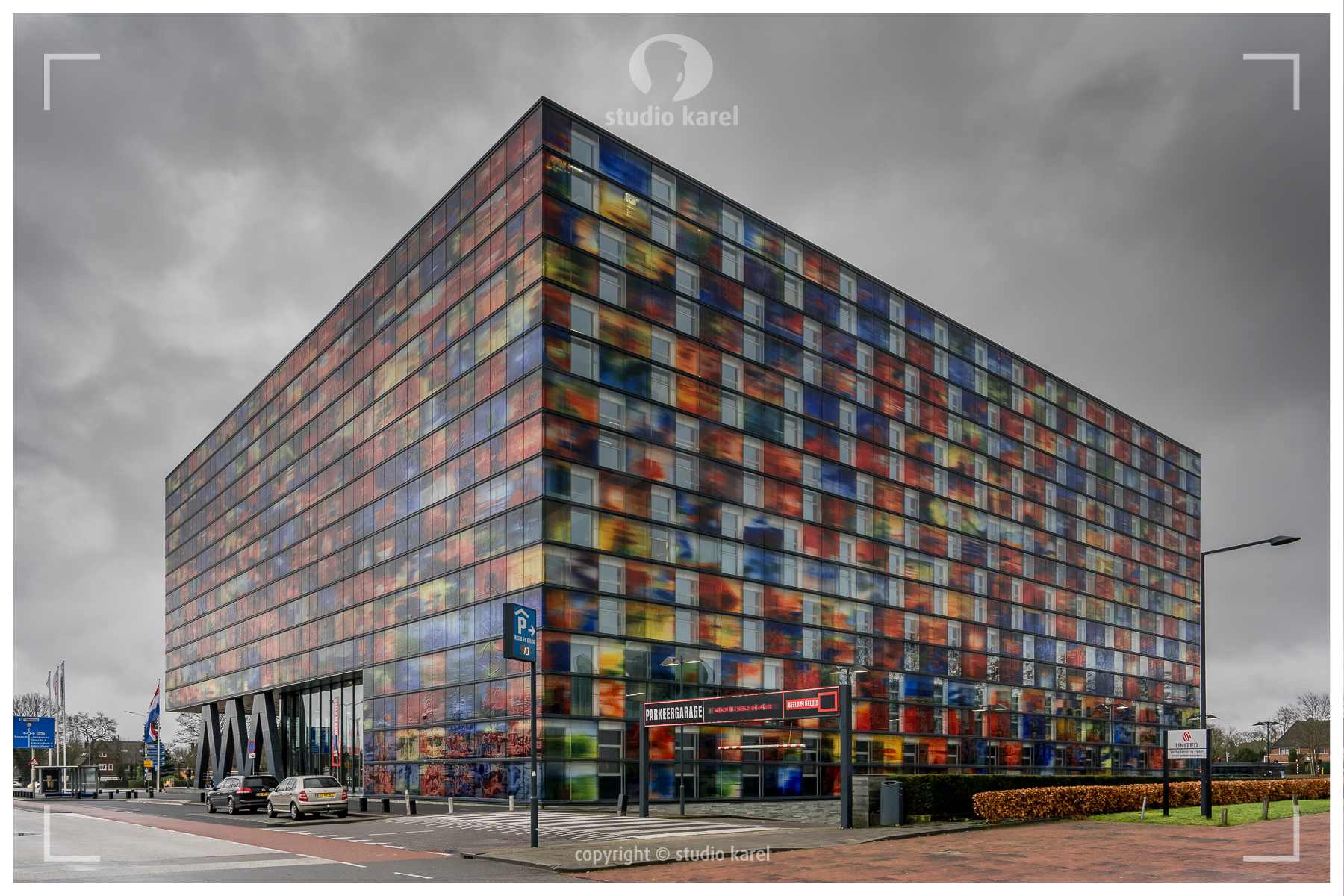 Hilversum, Noord Holland / The Netherlands - February 2, 2020: Institute for media culture Beeld en Geluid.