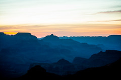 Sun Comes up on the Grand Canyon