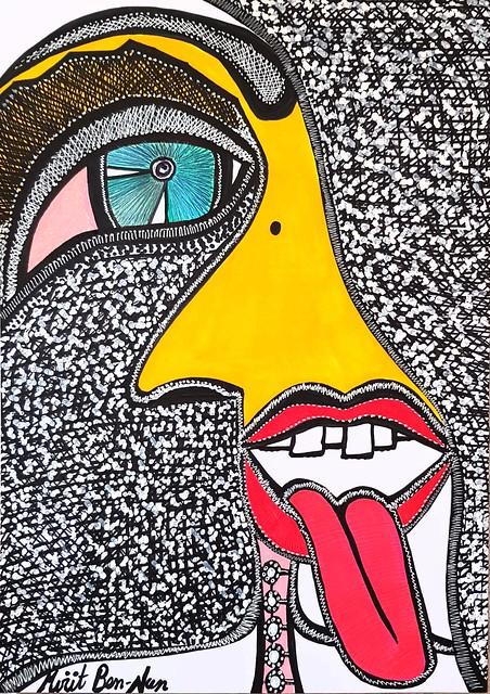 Radical modern art from Israel woman painter Mirit Ben-Nun