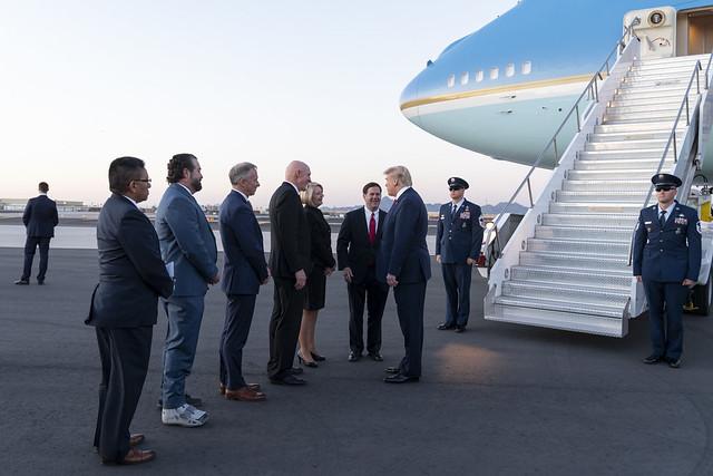 President Trump Arrives in Arizona