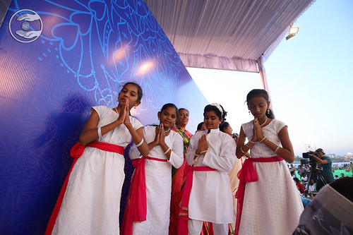 Welcome song by devotees from Kolhapur