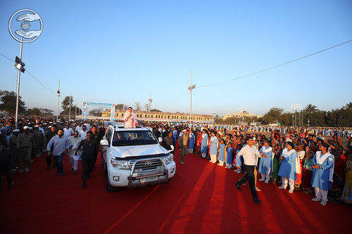 Arrival of Satguru Mata Ji in the Satsang Pandal