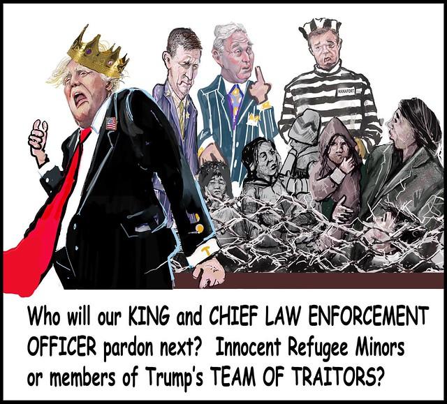 KING TRUMP PARDONS NEXT