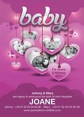 Baby Birth Announcement Flyer