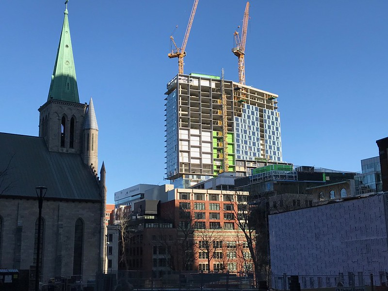 Demolished buildings - New construction - St-Patrick's basilica - Beaver Hall hill