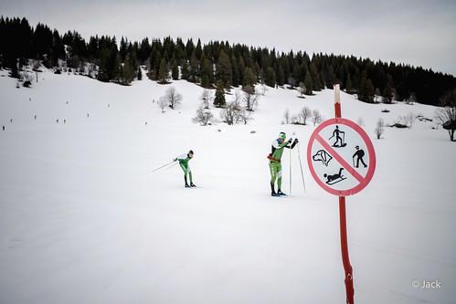 les skieurs