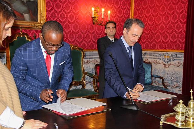 Assinatura de acordo entre UC e Ministério Público de São Tomé e Princípe