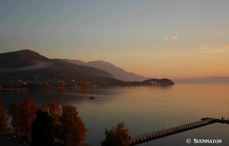 Ohrid, Makedonia,  auringonlasku