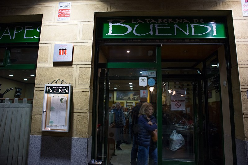 Taberna de Buendi, Madrid, tapas, sisäänkäynti, Madrid tapas