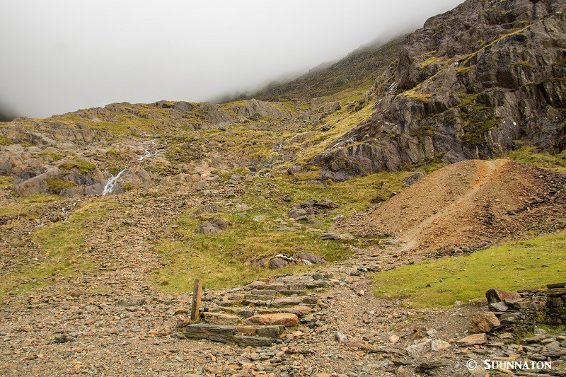 Snowdon, Miners Track, reitti huipulle