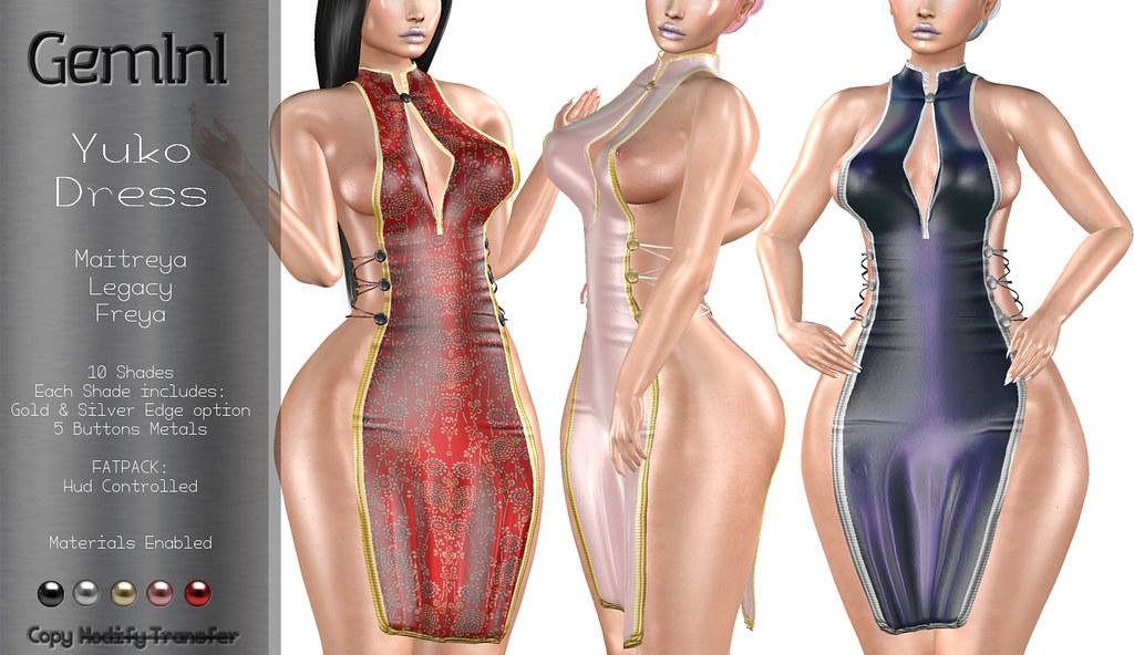 •Gemini -Yuko Dress- @ Shiny Shabby•
