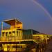DLRG Weissenhäuser Strand mit Regenbogen