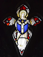 angel with a shield of the Archdiocese of Canterbury (Christopher Webb, 1927)
