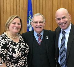 Rep. Simanski was joined by Granby's Superintendent, Dr. Jordan Grossman and BOE member Sarah Thrall for the annual legislative breakfast, sponsored by the CT Boards of Education and CREC.