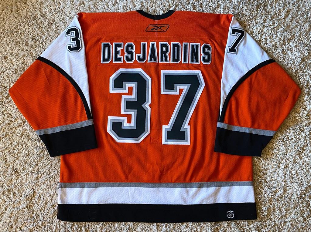 2005-06 Game Worn Eric Desjardins, Third set 2 (Back)