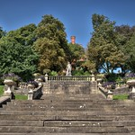 Victorian steps at Miller Park, Preston