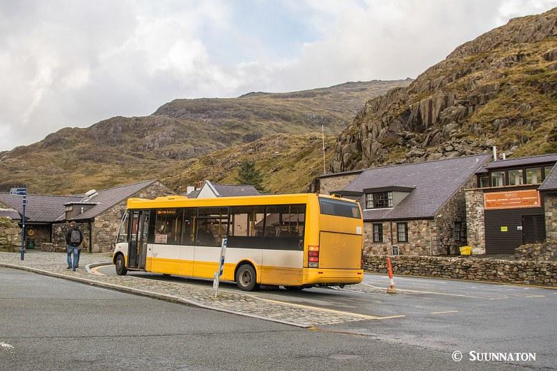 Snowdonian kansallispuisto, Pen-y-Pass, bussi