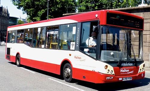 AJ58 PZK 'Halton Transport' No. 6. Alexander Dennis Ltd. Enviro 200 / MCV Evolution on Dennis Basford's railsroadsrunways.blogspot.co.uk'