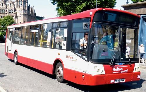 DG02 WXV 'Halton Transport' No. 29. Dennis Dart SLF / Marshall Capital on Dennis Basford's railsroadsrunways.blogspot.co.uk'