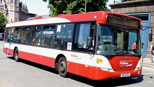 MIG 8170 'Halton Transport' No. 87. Scania CN230UB OmniCity on Dennis Basford's railsroadsrunways.blogspot.co.uk'