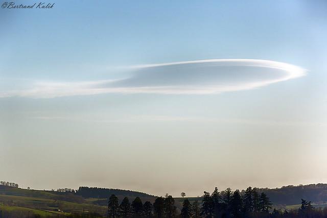 A Ufo over the sky