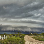 7. Mai 2019 - 14:57 - May 7, 2019 Tornado Warned Storms between Borger - Fritch - Shamrock, Texas  INCOMING BEAST !!! Big Beautiful Shelf Cloud near Fritch Texas!!  This thing was a beast! This day was a fairly stressful squall line mess with many options in many places! I started off in Pampa and then headed to Borger followed by here at Fritch where I seen some great structure along the way! After that everything became a mess! I seen the storm South of Claude was Tornado warned so I headed towards Groom and McLean on the I-40 and East to stay North of it. While heading East, straight South of me at Howardwich was showing rotation on Velocity scan and was heading my way, and got close at one point (was a confirmed Tornado)! Not going to lie, things got a little intense! I got past as whatever the scan was showing (which at the time, I was thinking may of been a possible rain wrapped tornado) I got East of it around Shamrock, but lost my Anemometer on the truck and the winds tore off a Magnet on my hail armor (which I fixed in the am)! Overall a great chase day with some intense moments!!!  Chase Video: youtu.be/BtWaBRwz8Yg   Facebook |  Twitter | Instagram | YouTube   * * Fine Art America for my Photo Prints * *