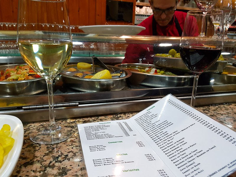 Taberna de Buendi, Madrid, tapas menu