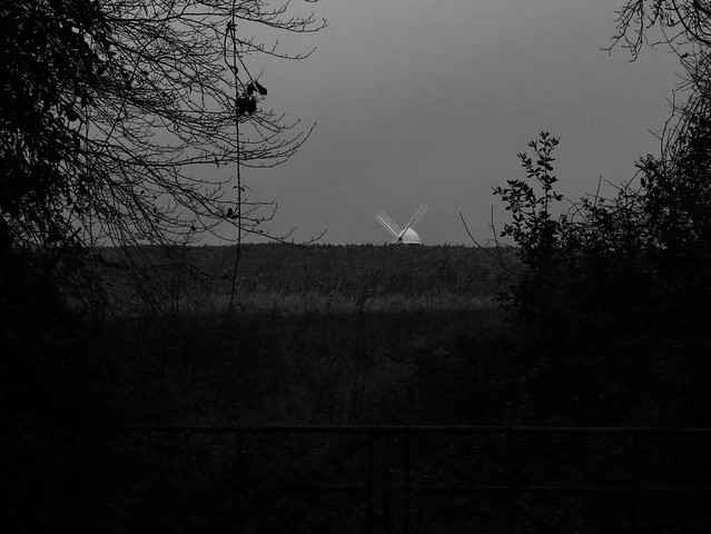 Just over the ridge line - Windmill on the hill