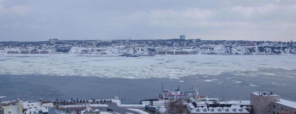 Hiver, winter, fleuve Saint-Laurent, Québec, Canada - 5612