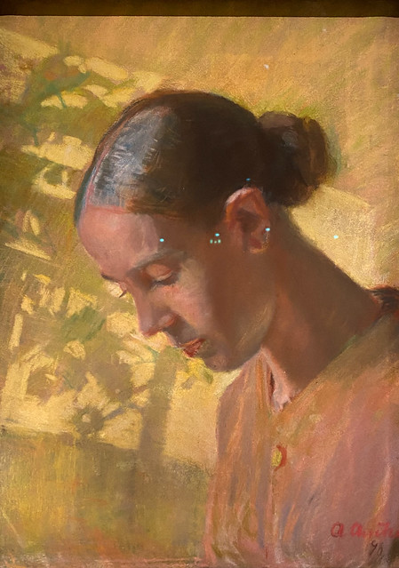 Anna Ancher; Study of The Seamstress' Head, Ane, 1890. SMK, National Gallery of Denmark