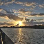Sunset weather at Preston Docks