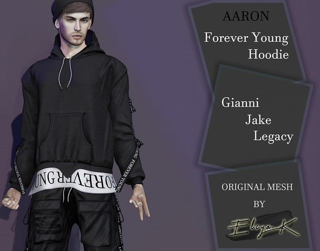 Eliya.K - Forever Young Hoodie @ Men Only Monthly