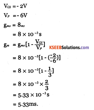 2nd PUC Electronics Question Bank Chapter 1 Field Effect Transistor (FET) 20