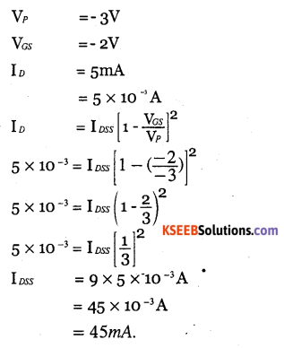 2nd PUC Electronics Question Bank Chapter 1 Field Effect Transistor (FET) 19