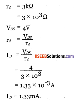 2nd PUC Electronics Question Bank Chapter 1 Field Effect Transistor (FET) 18