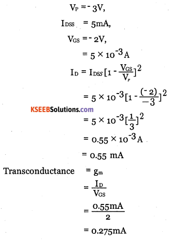 2nd PUC Electronics Question Bank Chapter 1 Field Effect Transistor (FET) 17