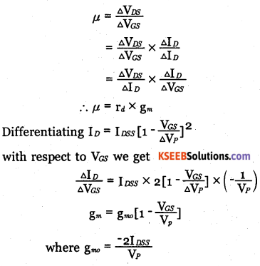 2nd PUC Electronics Question Bank Chapter 1 Field Effect Transistor (FET) 7
