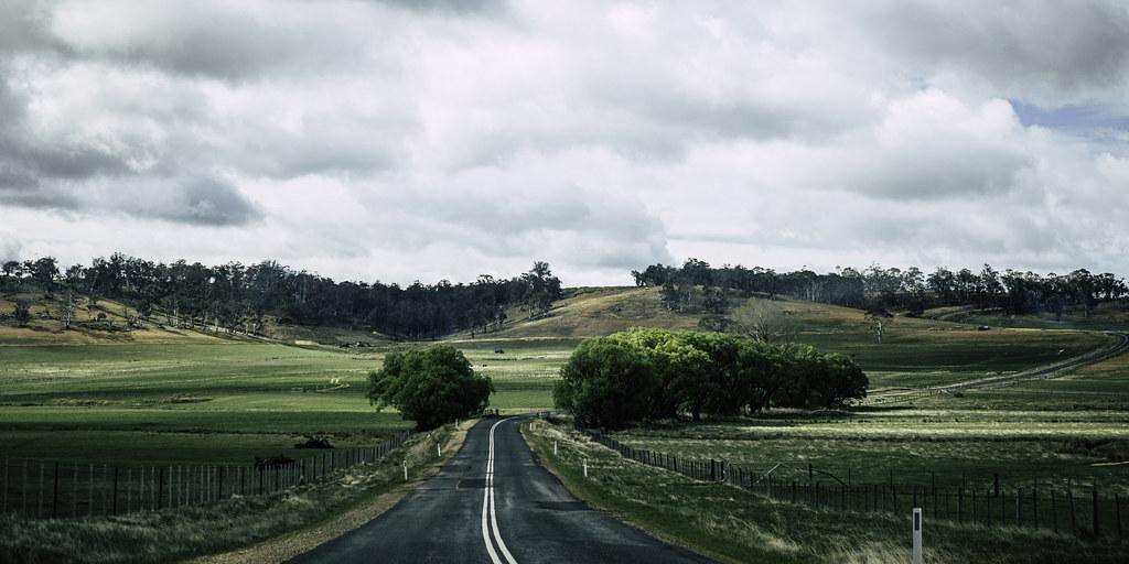 On the road towards Bothwell, Tasmania