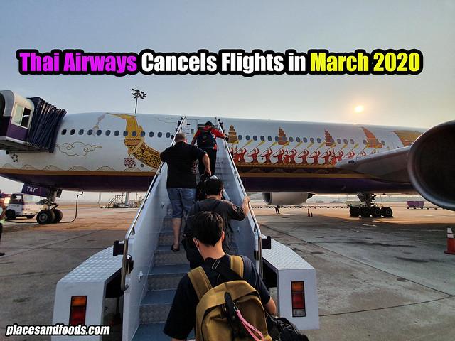 thai airways cancel flight