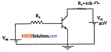 2nd PUC Electronics Question Bank Chapter 2 Transistor Biasing 10