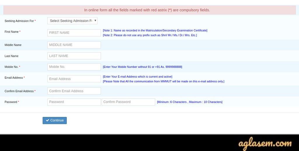 MMMUT Application Form 2020