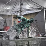 'Splash' Tom Finney sculpture at Deepdale, Preston