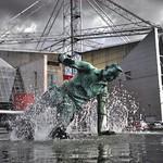 'Splash' Tom Finney sculpture at Deepdale, Preston