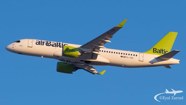 TLV - Air Baltic Airbus A220-300 YL-CSE